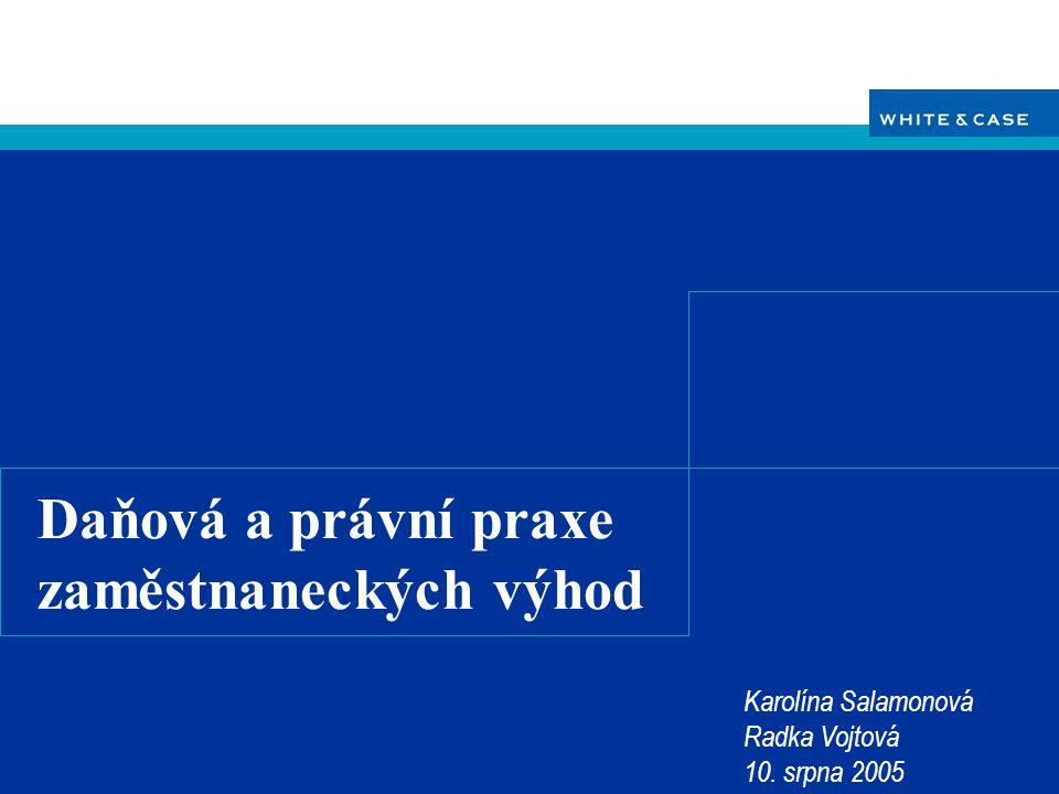 WHITE & CASE 10.srpna 2005 Hlavní prameny práva  Zákon č.