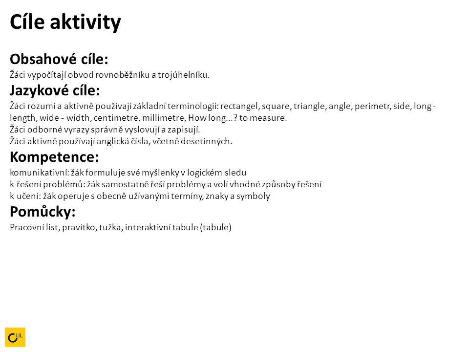Pracovní postup aktivity 1.