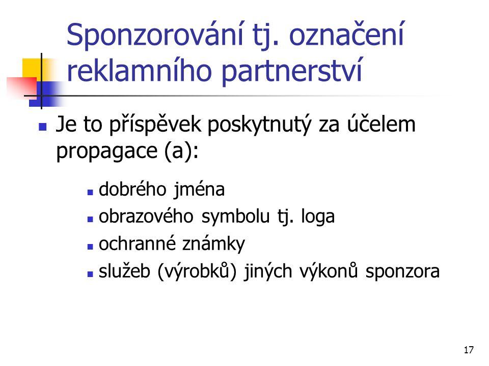 17 Sponzorování tj.