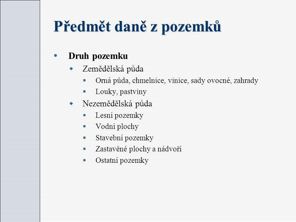 Příklad  Slečna Jiřina vlastní dvoupodlažní obytný dům (půdorys všech pater je stejný), jehož půdorys má obsah 80 m2.