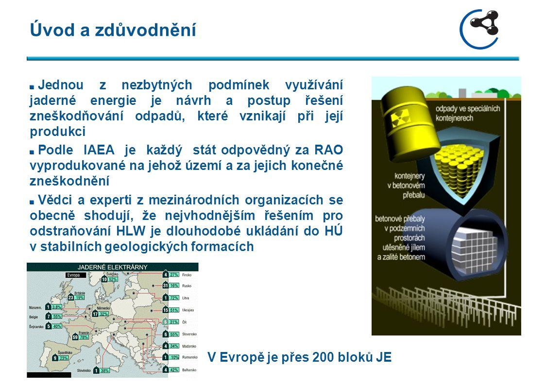 Úvod a zdůvodnění Jednou z nezbytných podmínek využívání jaderné energie je návrh a postup řešení zneškodňování odpadů, které vznikají při její produk
