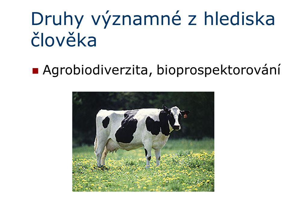 Druhy významné z hlediska člověka Agrobiodiverzita, bioprospektorování