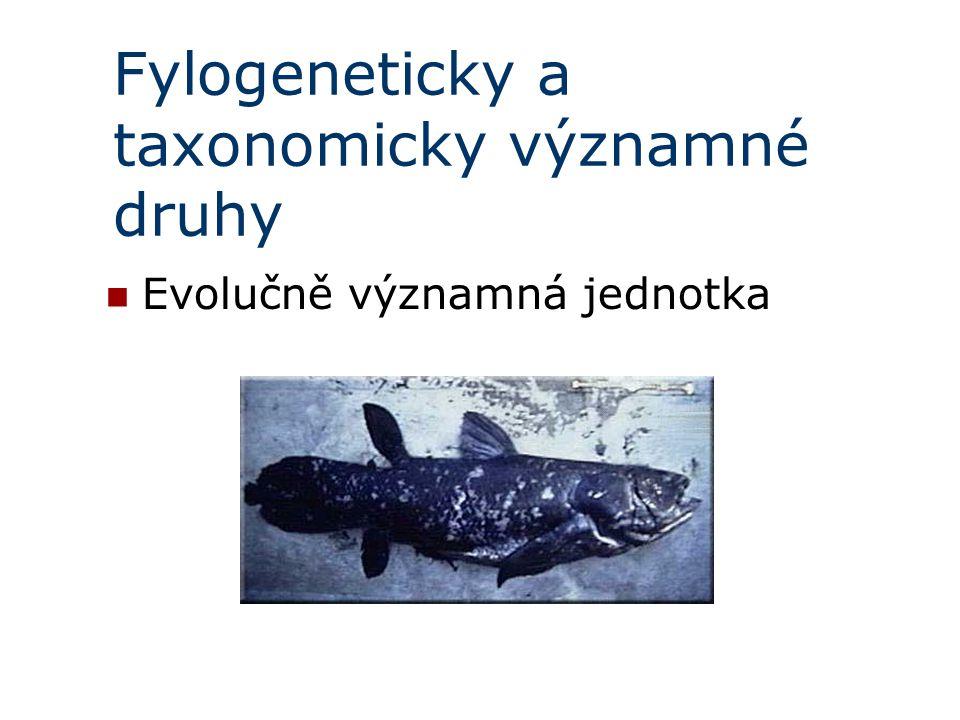 Fylogeneticky a taxonomicky významné druhy Evolučně významná jednotka
