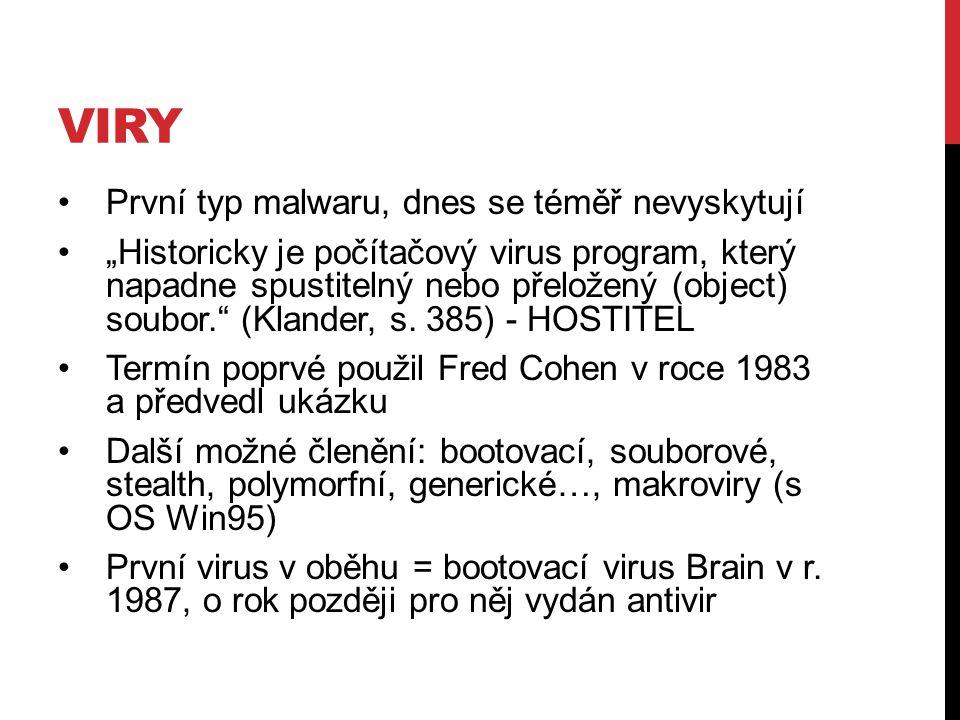 """PŘÍKLADY 1989 """"AIDS Information Diskette Incident – 20 tis."""