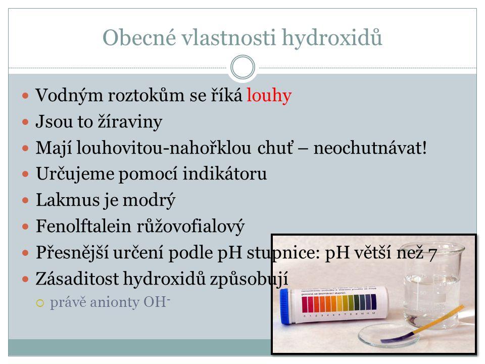 Hydroxid sodný a hydroxid draselný NaOH – h.sodný KOH – h.