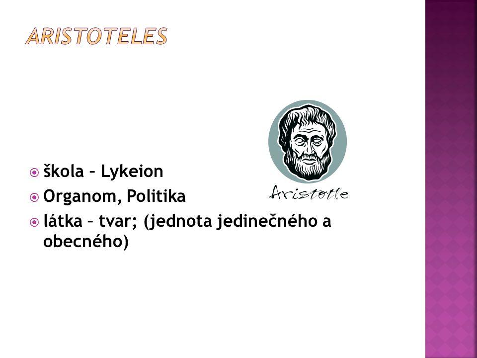 stoicismus: Zenon Mladší Seneca Marcus Aurelius  logos – pneuma – idea věčného návratu  žít podle přírody