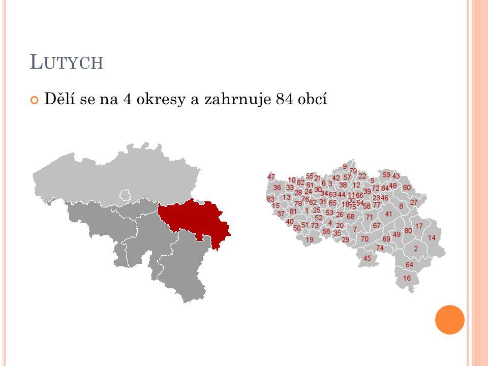 L UTYCH Dělí se na 4 okresy a zahrnuje 84 obcí