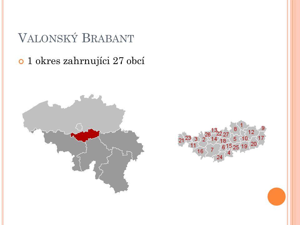 V ALONSKÝ B RABANT 1 okres zahrnujíci 27 obcí
