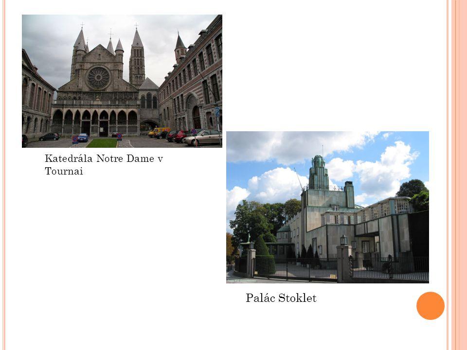 Katedrála Notre Dame v Tournai Palác Stoklet