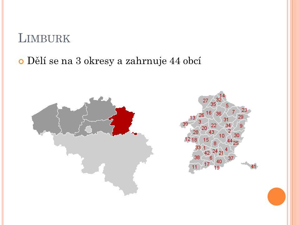 V LÁMSKÝ B RABANT Dělí se na 2 okresy a zahrnuje 65 obcí