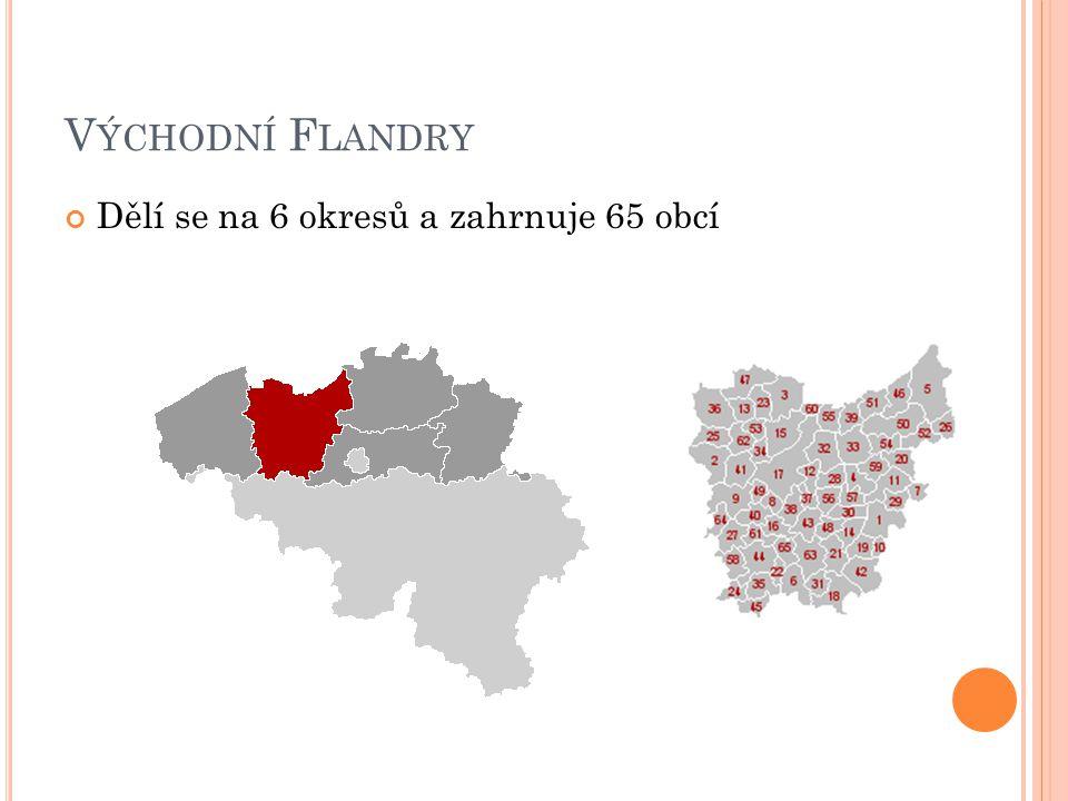 Z ÁPADNÍ F LANDRY Dělí se na 8 okresů a zahrnuje 64 obcí