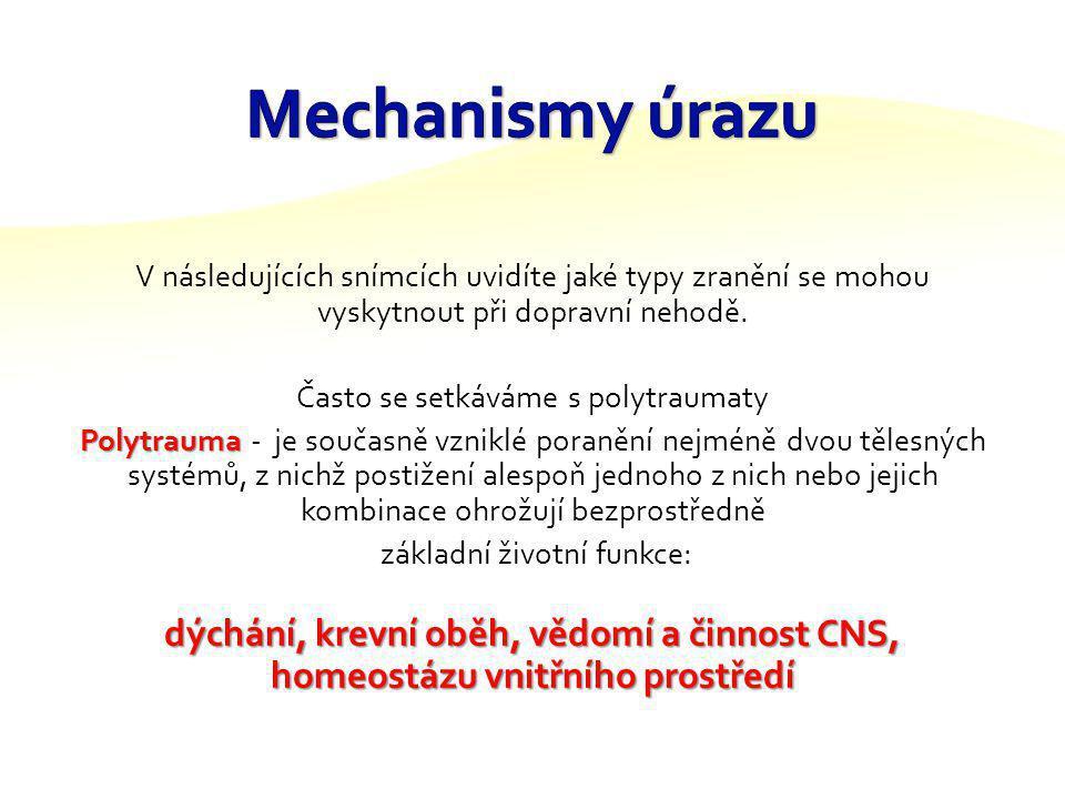 Primární zhodnocení kontrola a zajištění průchodnosti dýchacích cest zhodnocení dostatečnosti ventilace kontrola oběhu a krvácení zhodnocení neurologi