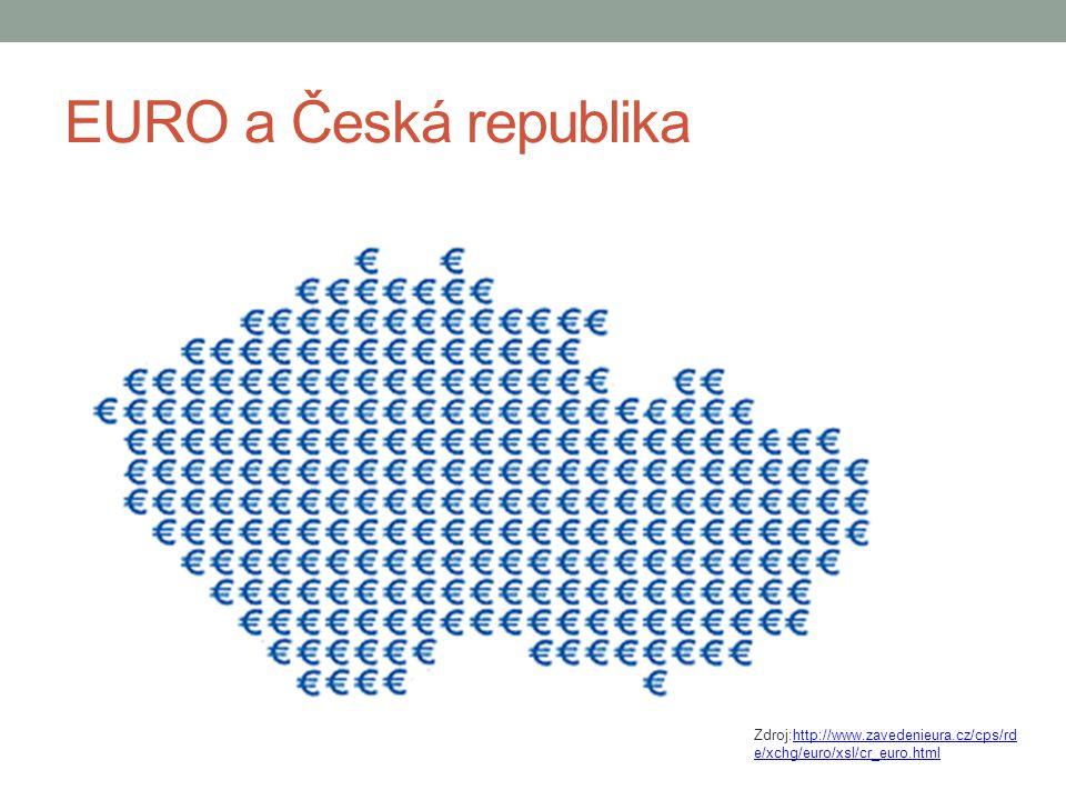 EURO a Česká republika Zdroj:http://www.zavedenieura.cz/cps/rd e/xchg/euro/xsl/cr_euro.htmlhttp://www.zavedenieura.cz/cps/rd e/xchg/euro/xsl/cr_euro.h