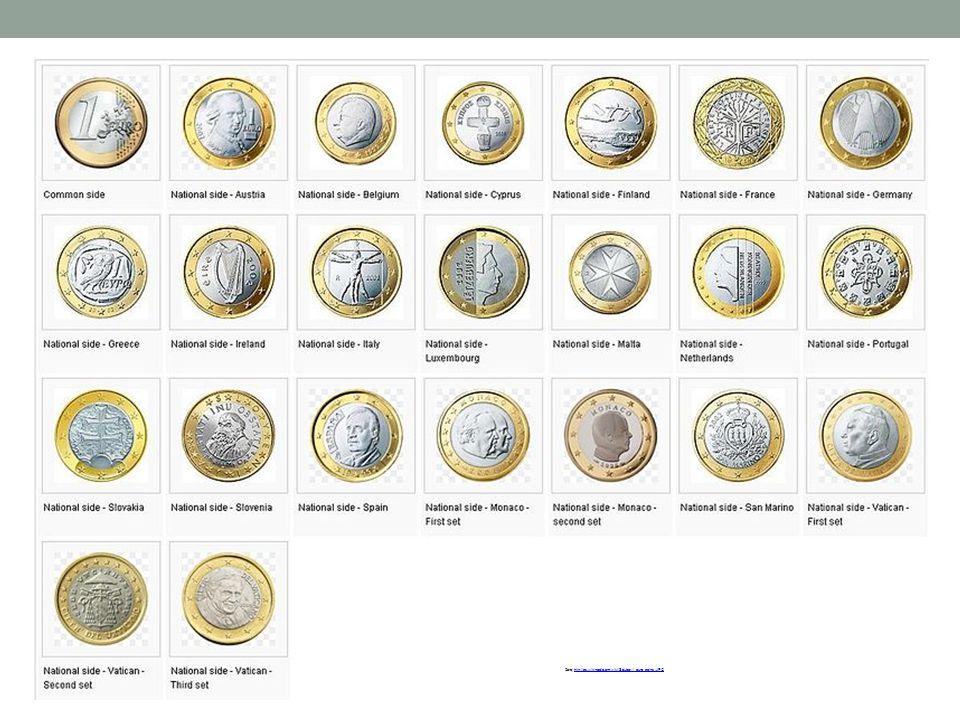 Zdroj:http://cs.wikipedia.org/wiki/Soubor:1_euro_coins.JPGhttp://cs.wikipedia.org/wiki/Soubor:1_euro_coins.JPG