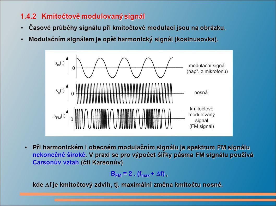 Časové průběhy signálu při kmitočtové modulaci jsou na obrázku.Časové průběhy signálu při kmitočtové modulaci jsou na obrázku.