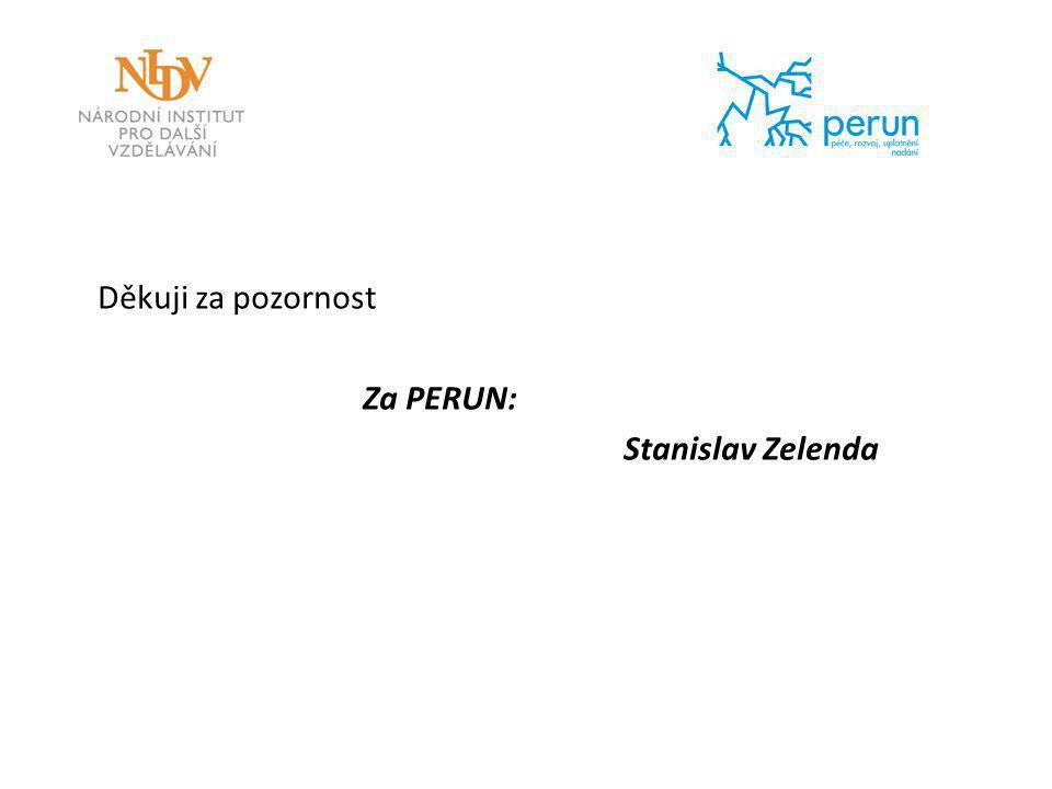 Děkuji za pozornost Za PERUN: Stanislav Zelenda
