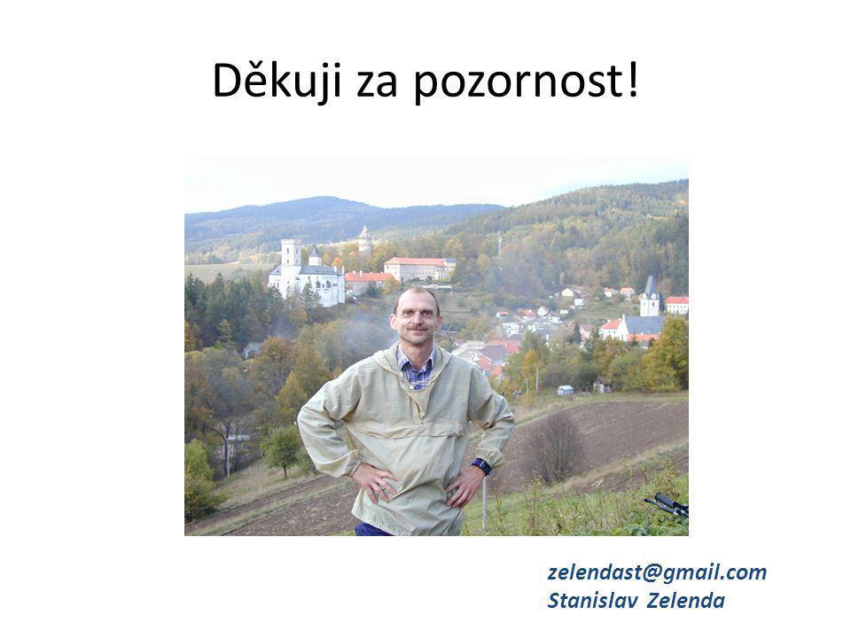 Děkuji za pozornost! zelendast@gmail.com Stanislav Zelenda