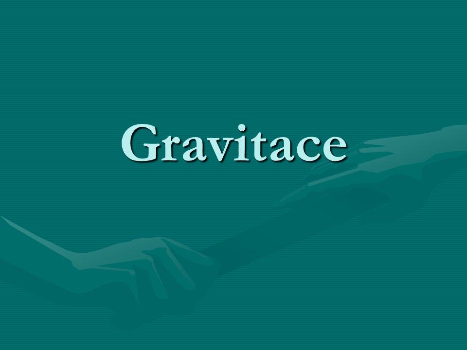 Gravitace je přitažlivost mezi tělesy, jako jedna ze základních vlastností hmotných těles (těles s nenulovou hmotností).