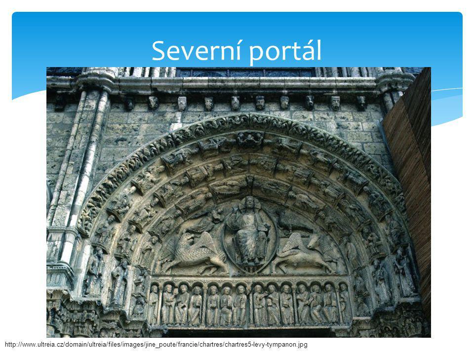 Severní portál http://www.ultreia.cz/domain/ultreia/files/images/jine_poute/francie/chartres/chartres5-levy-tympanon.jpg