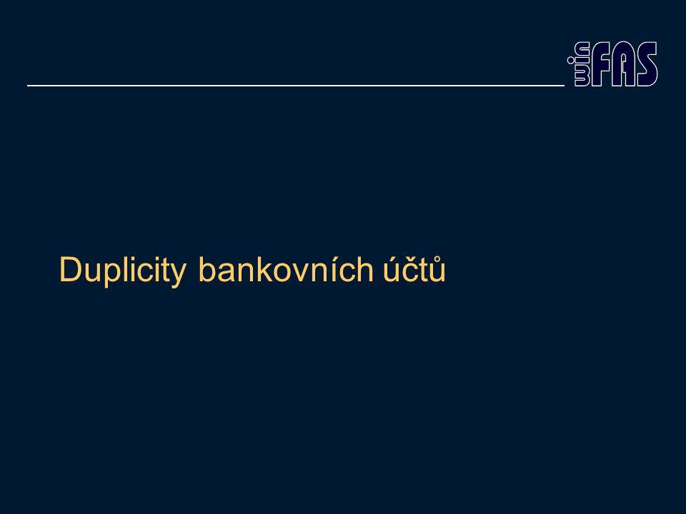 Duplicity bankovních účtů