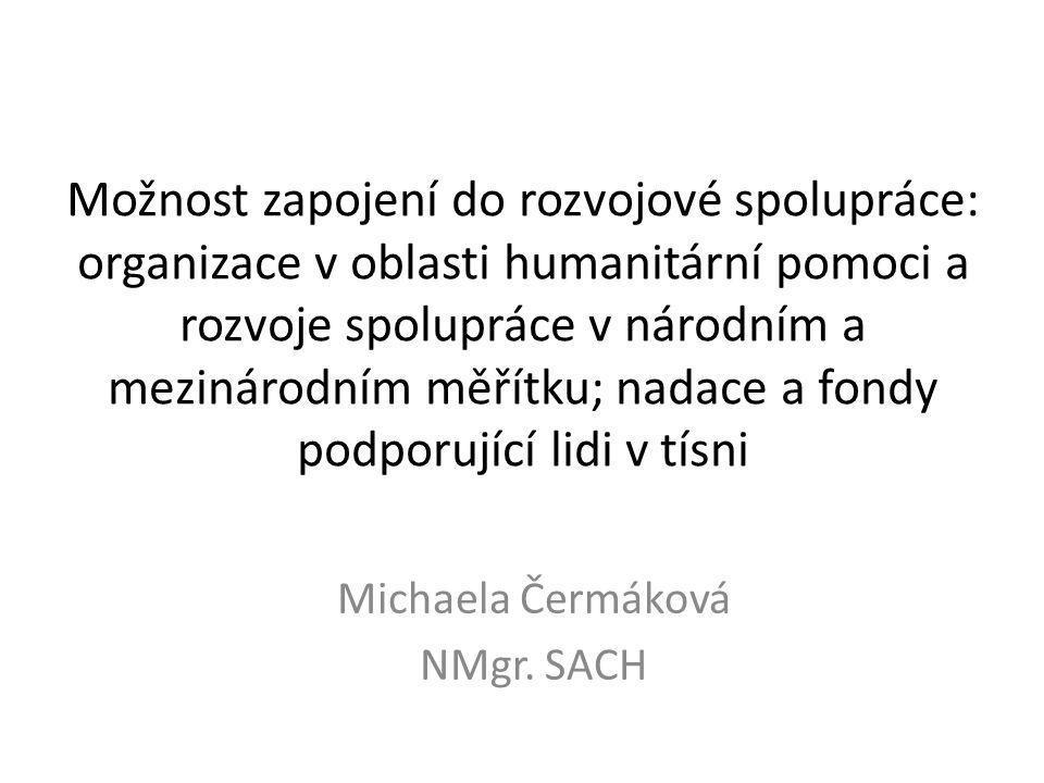 Nadace a fondy  Dobrý skutek, o.s. Fond drobného dárcovství – Český Telecom, a.s.