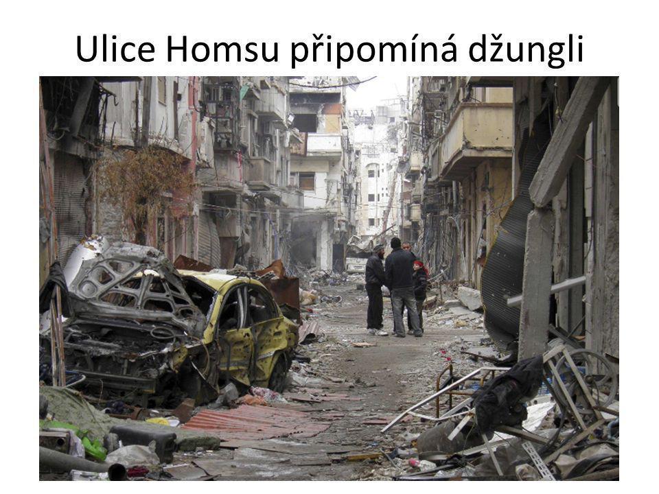 Ulice Homsu připomíná džungli