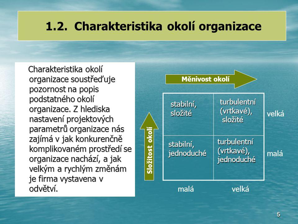 15 Funkcionální organizační struktura- schéma Centralizace rozhodování Jedno nadřízené místo Subordinace procesů odděleních s cílem úseku