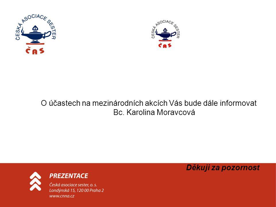 O účastech na mezinárodních akcích Vás bude dále informovat Bc.