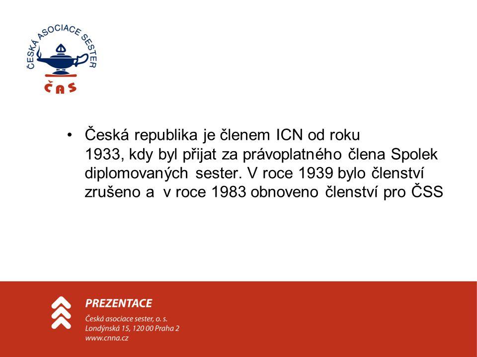 Mnoho let byla jediným členem za ČR v ICN ČSS a až v roce 1994 byla nahrazena ČAS