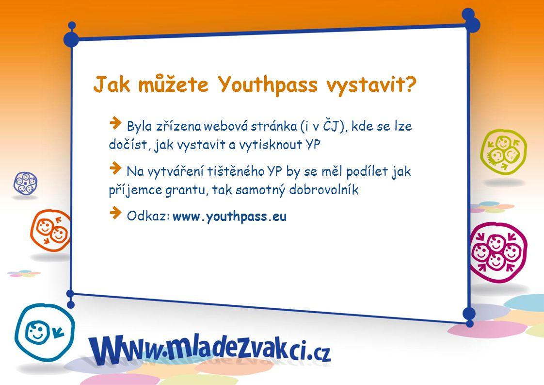 Jak můžete Youthpass vystavit.
