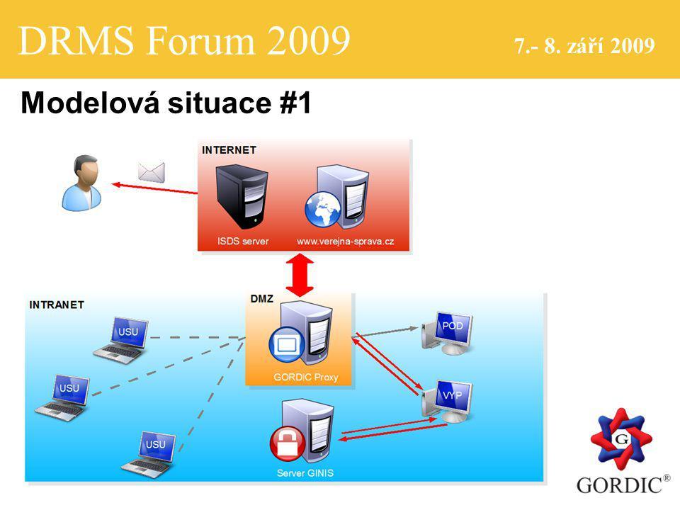 DRMS Forum 2009 7.- 8. září 2009 Modelová situace #1