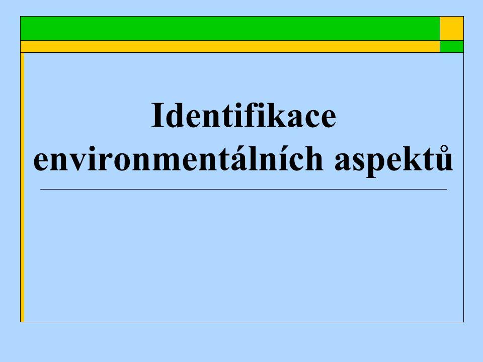 Identifikace environmentálních aspektů