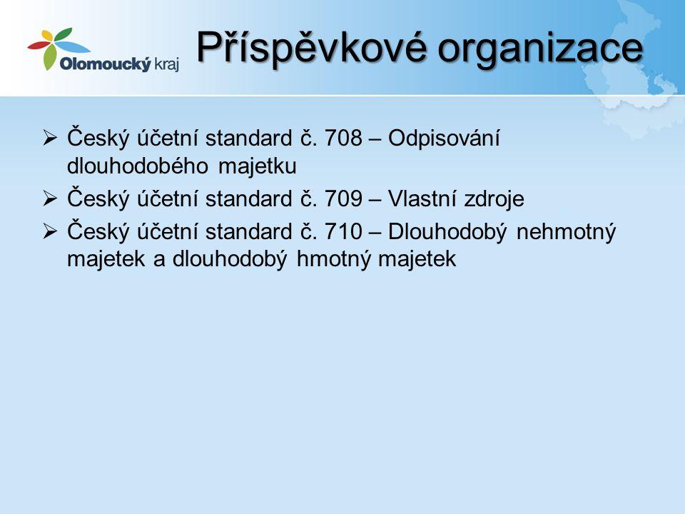  Český účetní standard č. 708 – Odpisování dlouhodobého majetku  Český účetní standard č.