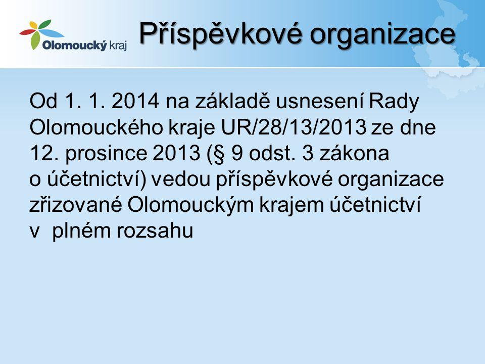 Od 1. 1. 2014 na základě usnesení Rady Olomouckého kraje UR/28/13/2013 ze dne 12.