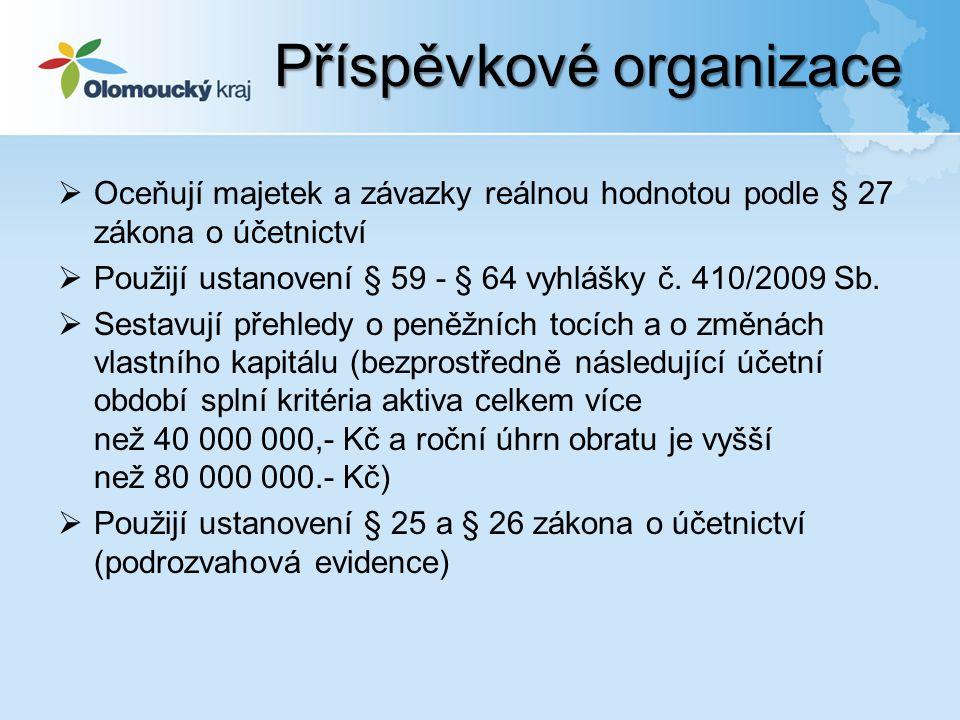  Směrná účtová osnova – Příloha č.7 vyhlášky č. 410/2009 Sb.