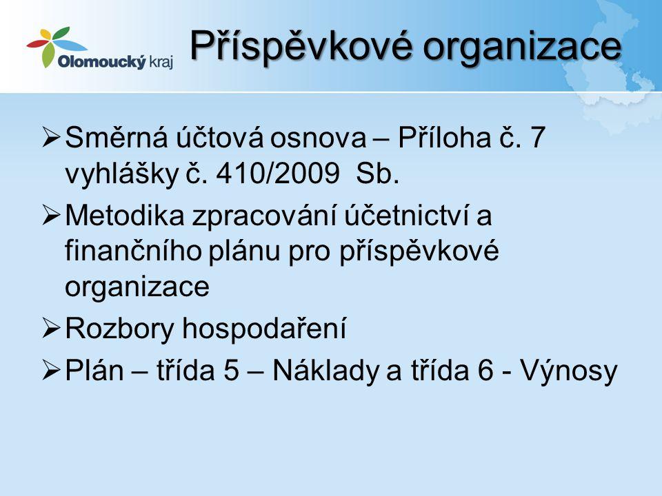  Směrná účtová osnova – Příloha č. 7 vyhlášky č.