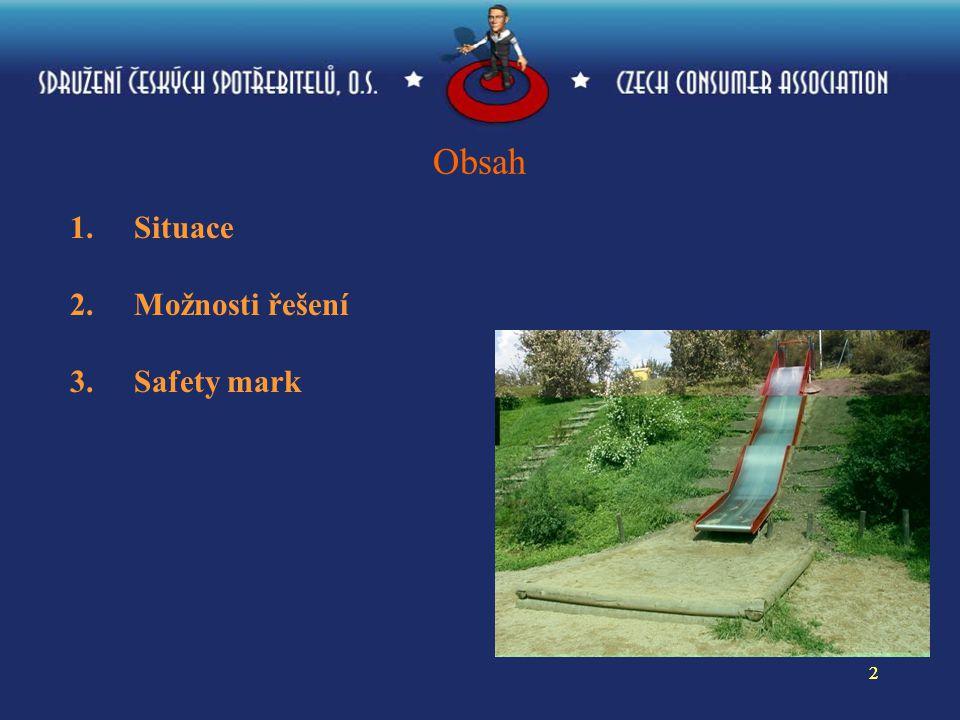 22 Obsah 1.Situace 2.Možnosti řešení 3. Safety mark