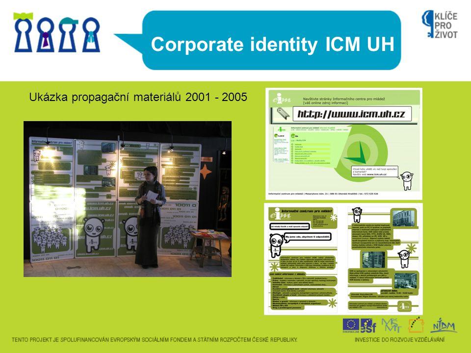 Corporate identity ICM UH Ukázka propagační materiálů 2001 - 2005