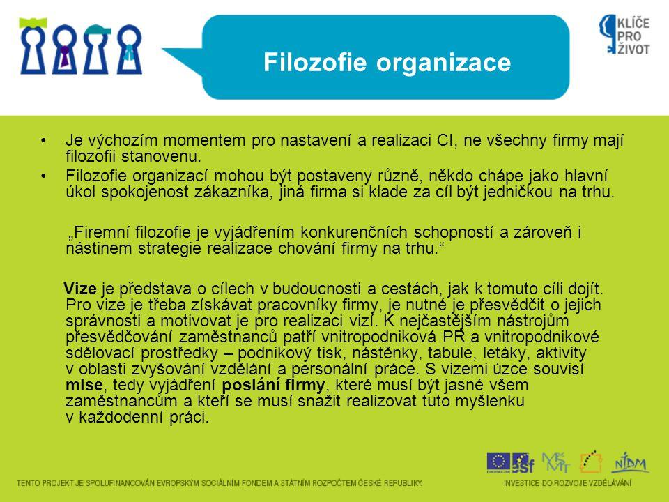 Corporate identity ICM UH 6) Produkt organizace V případě ICM je produktem organizace nabídka určitých služeb, jenž ICM zajišťuje.