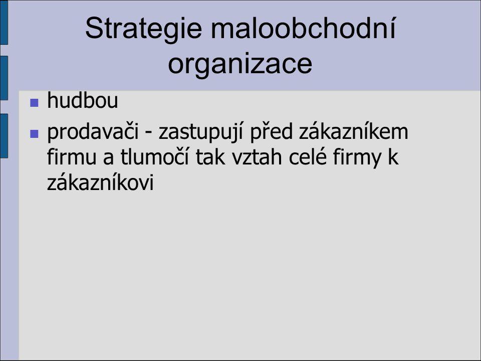 Strategie maloobchodní organizace hudbou prodavači - zastupují před zákazníkem firmu a tlumočí tak vztah celé firmy k zákazníkovi