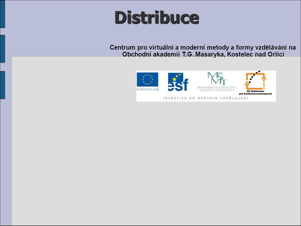 Distribuce Centrum pro virtuální a moderní metody a formy vzdělávání na Obchodní akademii T.G.