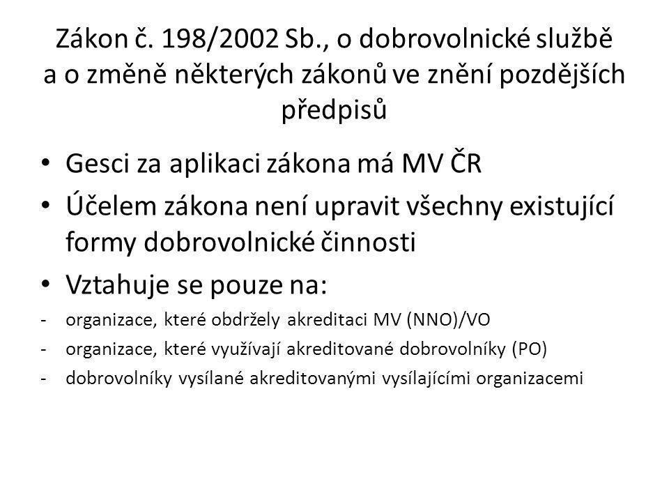 Účel zákona č.198/2002 Sb.