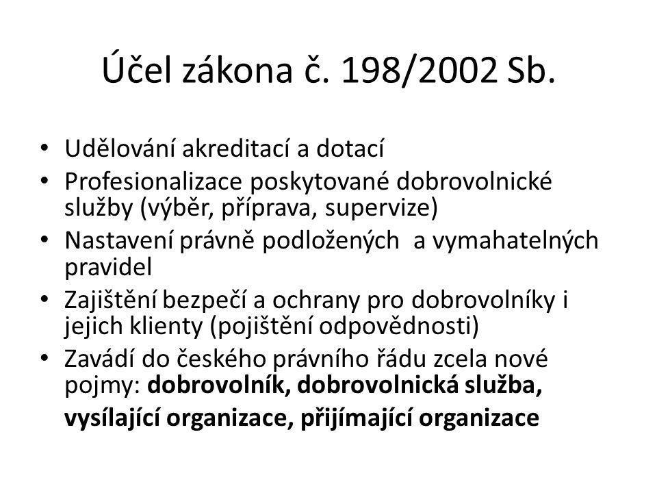 Účel zákona č. 198/2002 Sb.