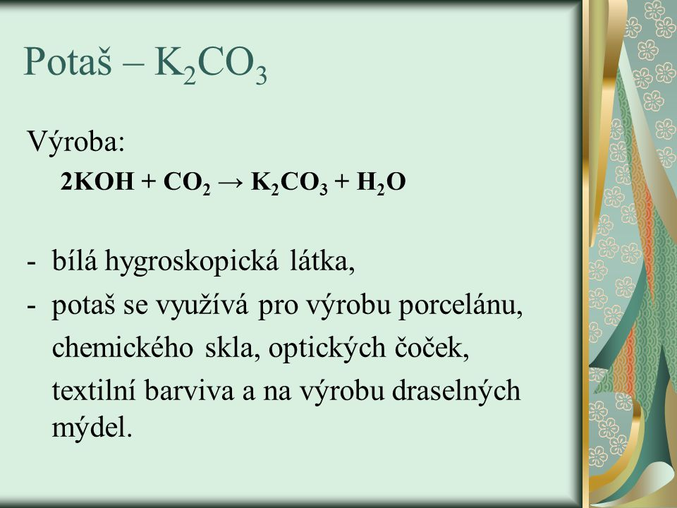 Hydrogenuhličitan sodný – NaHCO 3 NaHCO 3 - jedlá ( užívací) soda, používá se k neutralizaci žaludečních šťáv při překyselení žaludku a je součástí kypřících prášků do pečiva.