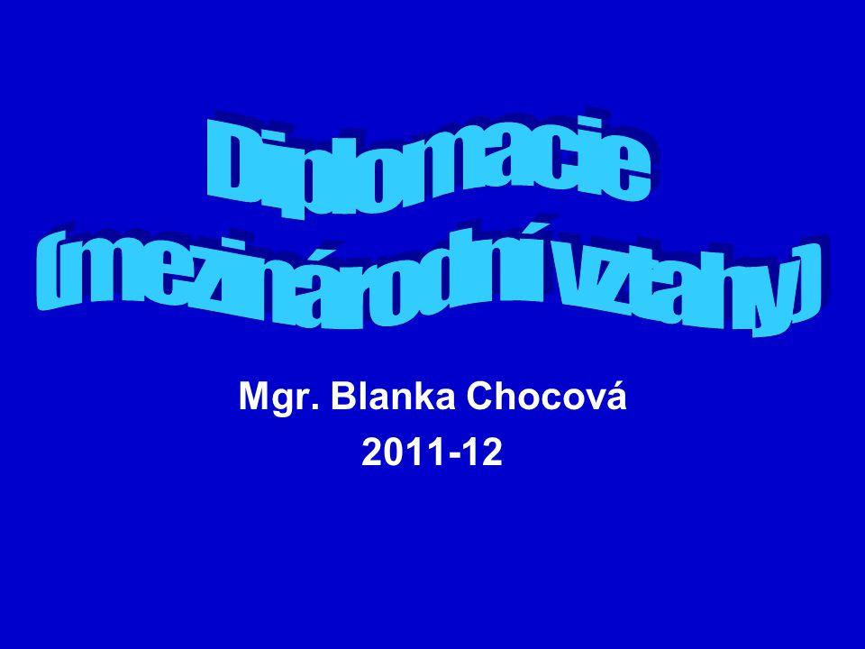 Mgr. Blanka Chocová 2011-12