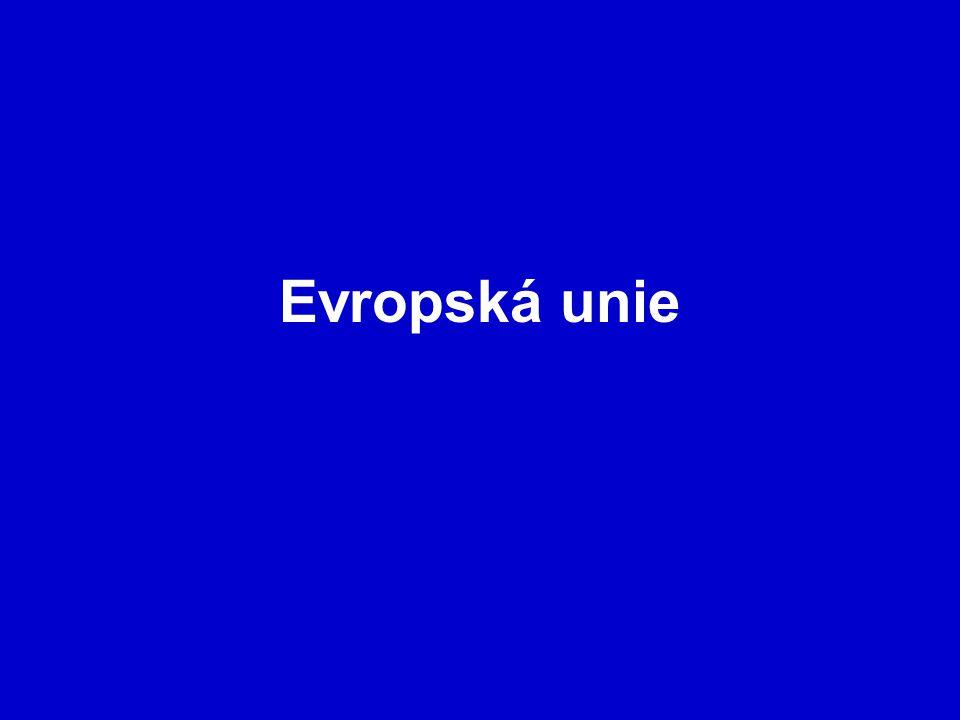 Evropská komise Sídlí v Bruselu Nahrazuje evropskou vládu Je nejvyšším orgánem výkonné moci EU Má 27 členů, kteří jsou jmenováni vládami jednotlivých členských států na 5 let Společně s Evropskou radou rozhodují o všech záležitostech Unie Komise pracuje nepřetržitě a je subjektem mezinárodního práva – má vlastní diplomatická zastoupení Předkládá návrhy právních předpisů Evropskému parlamentu a Radě EU V oblasti hospodářské soutěže a dopravní politiky má právo ukládat sankce