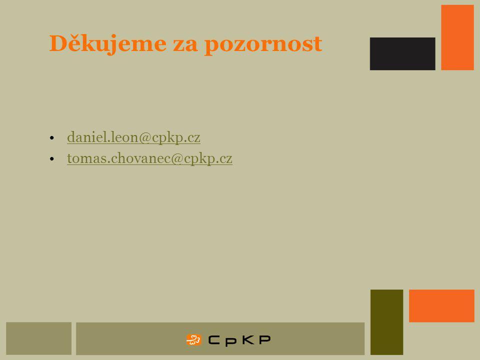 Děkujeme za pozornost daniel.leon@cpkp.cz tomas.chovanec@cpkp.cz
