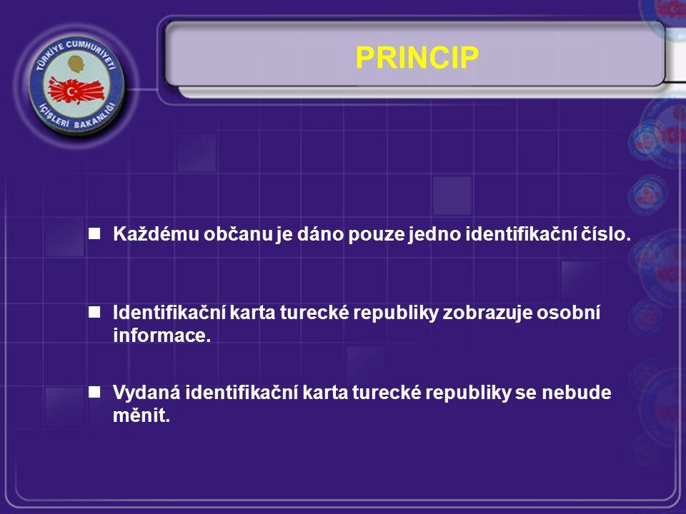 Každému občanu je dáno pouze jedno identifikační číslo.