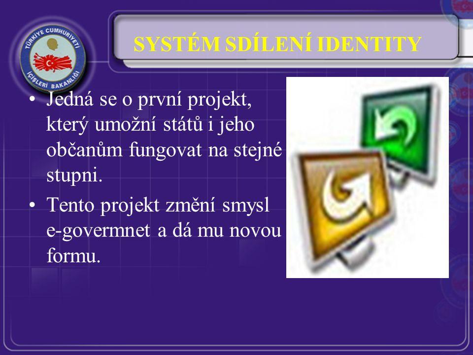 SYSTÉM SDÍLENÍ IDENTITY Jedná se o první projekt, který umožní států i jeho občanům fungovat na stejné stupni.
