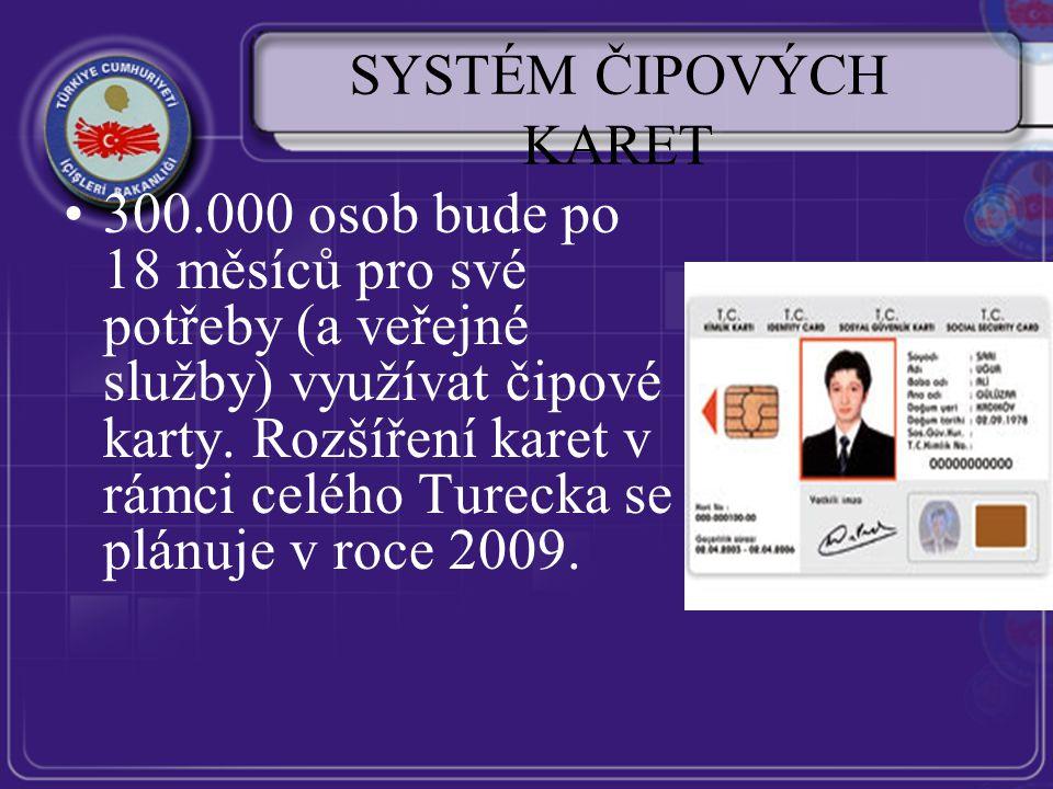 SYSTÉM ČIPOVÝCH KARET 300.000 osob bude po 18 měsíců pro své potřeby (a veřejné služby) využívat čipové karty.